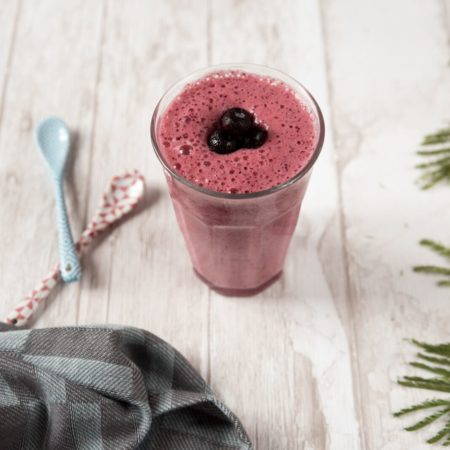 Le smoothie rose hivernal